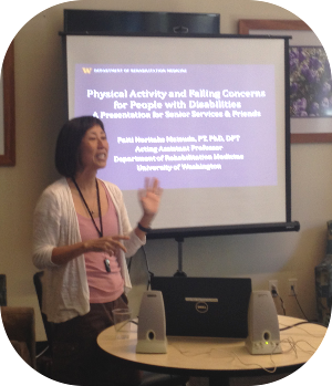Patti Matsuda talking about physical activity and falling.