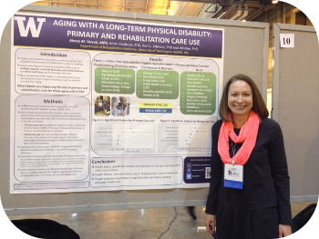 Aimee Verrall presenting a poster at APHA 2014